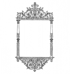 ornate tall furniture frame vector image