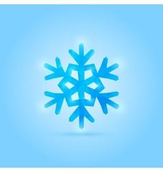 poly snowflake vector image vector image