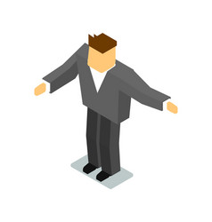 isometric man in business suit vector image vector image