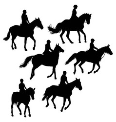 Jockeys And Riders vector image vector image