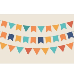 Party flags in pastel palette vector image vector image