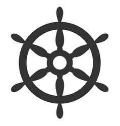 ship steering wheel flat icon vector image