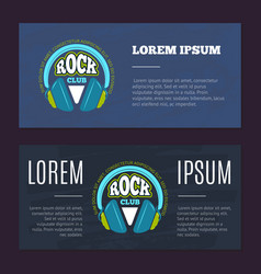 vintage flyers with rock music club music vector image