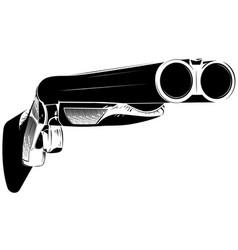 black and white shotgun vector image vector image