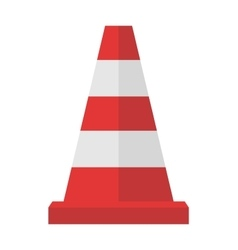 Construction of red road cones with stripes vector image vector image
