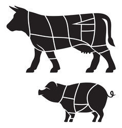 Cuts of meat vector image
