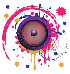 Grunge Audio Speaker4 vector image vector image