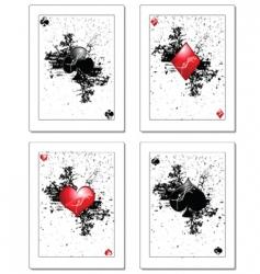 poker card vector image