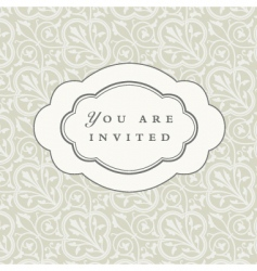 rounded frame and background vector image vector image