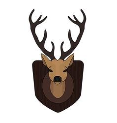 Stuffed taxidermy deer head vector image vector image