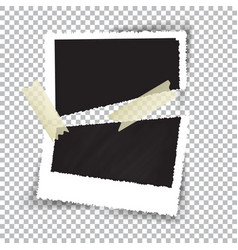 broken photography on checkered background vector image