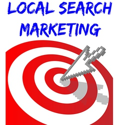 Find Local Search Targeted Marketing vector image