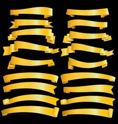 gold ribbons vector image vector image