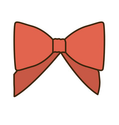 opaque color cute red ribbon with bow vector image