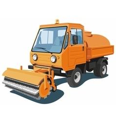 Orange street sweeper vector