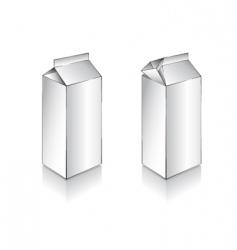 3d white milk box vector image
