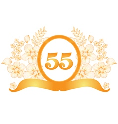 55th anniversary banner vector