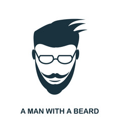 a man with a beard icon flat style icon design vector image