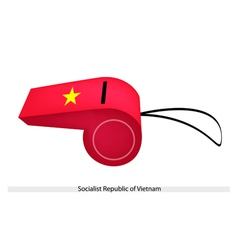 A Whistle of Socialist Republic of Vietnam vector image