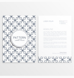 Abstract company leaflet template vector