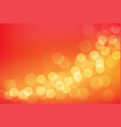 abstract yellow bokeh blur on red background vector image