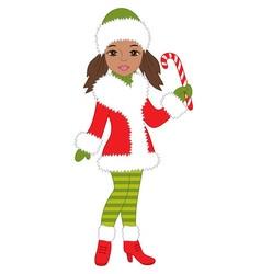 African American Christmas vector