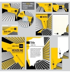 Architectural firm corporate business design vector