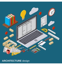 Architecture planning interior project concept vector image