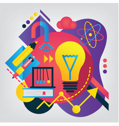 back to school concept physics vector image