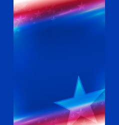 background in national colors of america vector image