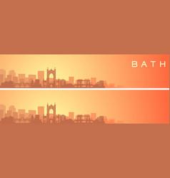 Bath beautiful skyline scenery banner vector