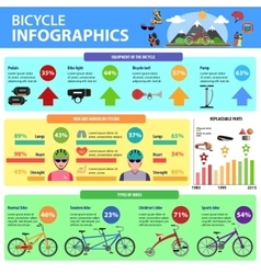 Bicycle Infographics Set vector