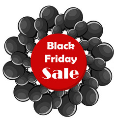 Black friday sale concept with black balloons vector
