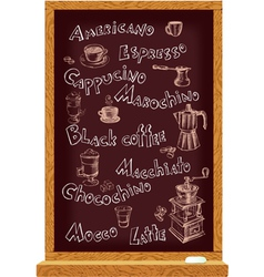 Blackboard for cafe vector