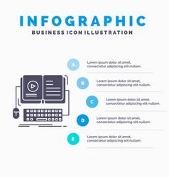 book ebook interactive mobile video infographics vector image