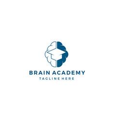Brain academy logo design concept vector