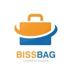 Briefcase logo design vector