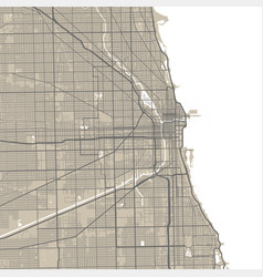 Chicago map city map poster map vector