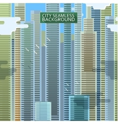 City seamless background vector