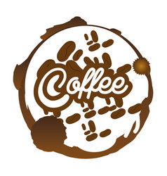 Coffee beans badge sticker vector