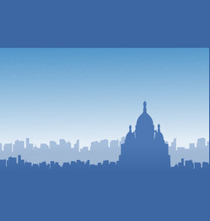 collection of city france skyline scenery vector image