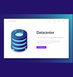 Data center web template server room vector