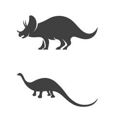 Dinosaurus icon template vector