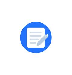 Document edit icon design vector