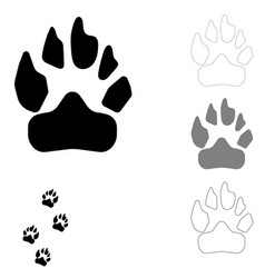 dog footprint on the white background vector image