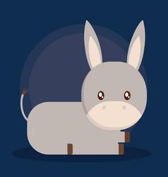 Donkey cartoon design vector