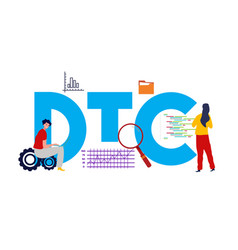 Dtc direct to consumer marketing process strategy vector