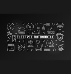 Electric automobile outline modern vector