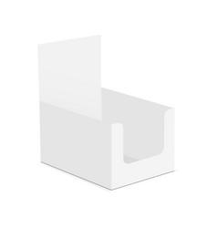 empty display box mockup vector image