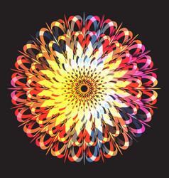 ethnic floral colorful tribal circle mandala vector image